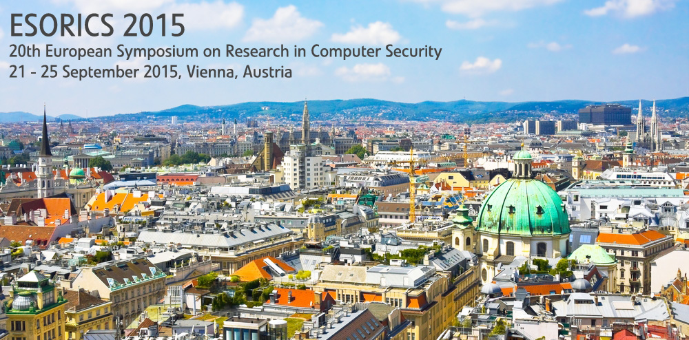 20th European Symposium on Research in Computer Security